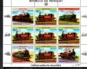 PARAGUAY   Feuillet   N° 2114a    * *   ( Cote10e )  Train - Trains