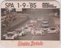 SOUS  BOCKS : Stella    Artois :  24 Heures   Le  Mans   Voiture 1985 - Beer Mats