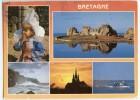 Couleurs De Bretagne - Tradition Et Patrimoine - Multivues - écrite Timbrée 1996 (pour Jeux) - Bretagne