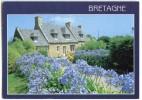 Couleurs De Bretagne - Maison Aux Agapanthes - écrite Timbrée 1998 (pour Jeux) - Bretagne