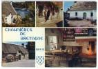 Chaumières De Bretagne - Multivues - écrite Non Timbrée - 2 Scans - Bretagne