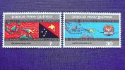 Papua-Neuguinea 296/7 Sc 423/4 SG 295/6 Oo/used, Unabhängigkeit - Papua-Neuguinea