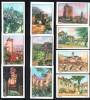 Lot De 10 Images Nestlé, 1936-37, La Guyenne, St. Emilion,Espalion,Cahors,Estaing,Moissac,Conques, Bozouls. - Nestlé