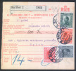 Yugoslavia Kingdom 1928 Sprovodni List - Parcel Card Maribor - Split B151123 - 1931-1941 Kingdom Of Yugoslavia
