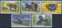 MDA-BK1-386-2 MDV MINT PF/MNH ¤ COOK ISLANDS 1992 5w In Serie ¤ MAMMALS - BUTTERFLIES - APES - GORILLAS - LEMUR CATTAS - Butterflies
