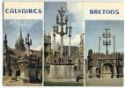 Calvaires Bretons - Guimiliau, Saint-Thégonnec Et Plougastel-Daoulas - écrite Et Timbrée - 2 Scans - France