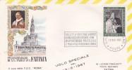 Vatican City 1967 Flight Cover Pope Visit Fatima - Vatican
