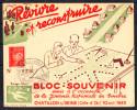 FRANCE - REVIVRE ET RECONSTRUIRE - BLOC SOUVENIR - JOURNEE DU TIMBRE 1943 - CHATILLON SUR SEINE.