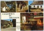 Chaumières De Bretagne - Multivues - Cornouaille, Vannetais, Le Porzay - écrite Non Timbrée - 2 Scans - Non Classés