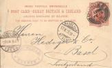 Entier Carte Postale De DUNDEE 1896 Pour BASEL ( Switzerland ) - Marcofilie