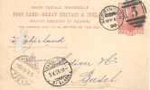 Entier Carte Postale ACGRINGTON 1896 Pour BASEL ( Switzerland ) - Marcofilie