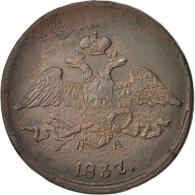 Russie, Nicolas Ier, 5 Kopeks 1837 EM-NL (Ekaterinbourg), KM C140.1 - Besancon