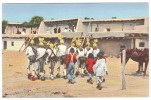A-103, Postcard, The Koshare In The Corn Dance At Santo Domingo Indian Pueblo, New Mexico - Native Americans