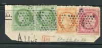 Superbes N° 53 - 38 & 57 Cachet Etoile 4 EX 24 - 1871-1875 Ceres