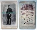 Photo Cdv D´un Militaire, 2 Sur Col, Photographe Léon, Grenoble, Photographie Dauphinoise - War, Military