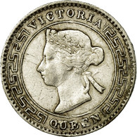 Monnaie, Ceylon, Victoria, 10 Cents, 1892, TTB, Argent, KM:94 - Sri Lanka
