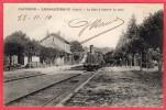 CPA 15 LAROQUEBROU La Gare à L'arrivée Du Train  ( Ro5 Près SAINT PAUL DES LANDES - France