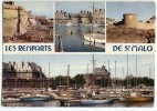 SAINT-MALO - Les Remparts, La Grande Porte Centrale Et Le Château - écrite Et Timbrée - 2 Scans - Saint Malo