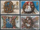 Great Britain. 1974 Christmas. Church Roof Bosses. Used Complete Set. SG 966-969 - Used Stamps