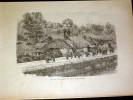 Illustration Original Engraving Gravure Originale ( 1905 ) Une Rue De Hanoï Tonkin Viêt Nam Asie - Estampes & Gravures