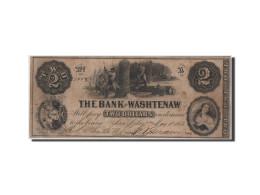 Etats-Unis, Obsol�tes, Michigan, Bank of Washtenaw, 2 Dollars 1.5.1854