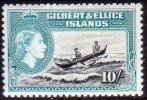 GILBERT & ELLICE 1956 10sh SG #75 MNH Great Frigate Bird - Îles Gilbert Et Ellice (...-1979)