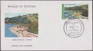 Wallis & Futuna 1975 Y&T PA 69. Paysage, anse de Sigave � Futuna, sur enveloppe premier jour, FDC