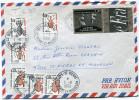 ST PIERRE ET MIQUELON LETTRE PAR AVION DEPART LA ROCHELLE ?-10-1986 TAXEE A L'ARRIVEE A ST PIERRE LE 1-11-19861- - Lettres & Documents
