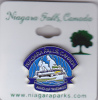 PIN BACK, 10cm, NIAGARA FALLS, Maid Of The Mist, ONTARIO, ON, Canada, Butterfly Clasp, Metal Lapel Pin On Card - Villes