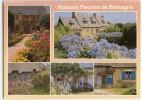Maisons Fleuries De Bretagne - Multivues - écrite Non Timbrée - 2 Scans - Bretagne