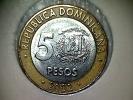 République Domenicaine 5 Pesos 2002 - Dominicana