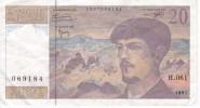 BILLETE DE FRANCIA DE 20 FRANCS DEL AÑO 1997 SERIE H  (BANKNOTE) CLAUDE DEBUSSY - 1962-1997 ''Francs''