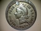 République Domenicaine 1/2 Peso 1967 Troué - Dominicana