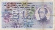 BILLETE DE SUIZA DE 20 FRANCS DEL AÑO 1957 (BANKNOTE) - Suiza