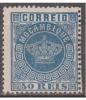 MOÇAMBIQUE - 1881-85,  Tipo Coroa. Novas Cores. 50 R.  D. 13 1/2  Pap. Fino   (*) MNG  Afinsa  Nº 14 - Mozambique