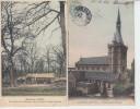 MAISONS LAFFITTE - 2 Cartes - Eglise Saint Nicolas Et Cabane De Bûcherons Dans La Forêt St Germain PRIX FIXE - Maisons-Laffitte