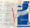 DEPLIANT TOURISTIQUE SNCF- PARIS DIJON-BESANCON- LONS LE SAULNIER-GRENOBLE-MANOSQUE-DIGNE-NEVERS-AIX-CULOZ-DIVONNE-EVIAN - Tourism Brochures