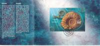 """Suisse 2015 """" Ammonoidea, fossil """" bloc nouveaute, obliteration premier jour !"""