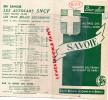 73- DEPLIANT TOURISTIQUE SNCF-  EVIAN-CHAMONIX-ANNECY-AIX LES BAINS- GRENOBLE-ISERAN-1939- - Dépliants Touristiques