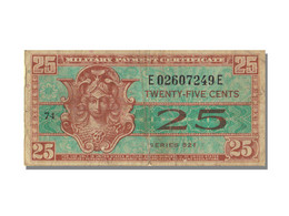 États-Unis, 25 Cents Type Military Payment Certificate - 1954-1958 - Reeksen 521
