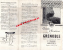 38- DEPLIANT TOURISTIQUE SNCF- GRENOBLE- ETS TRAFFORT - PLACE GRENETTE-URIAGE-PONT ROYANS-LA MURE-VIZILLE- 1953 - Tourism Brochures