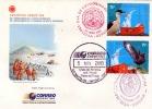 ANTARCTICA ARGENTINIEN 2003 / 2 X 75 C + 5 Sonderstempel Auf Schmuckbrief - Briefmarken