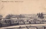 Bruxelles Tour Et Taxis Intérieur De La Gare Circulée En 1929 - Places, Squares