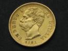 20 Lire OR 1881 -Gold - UMBERTO I RE D'ITALIA  **** EN ACHAT IMMEDIAT **** - 1861-1946 : Royaume
