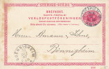 SCHWEDEN P 20, DD 1006, Gestempelt Stockholm 28.12.1907 - Enteros Postales