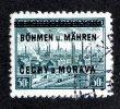 4199 Y - Bohemia & Moravia  Michel # 7 (o)  ( Cat. €6. ) - Böhmen Und Mähren
