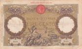 Lire 100 Aquila Romana Fascio Dec. 12/01/1935 Firme Azzolini - Cima. Integra E In Buono Stato - 100 Lire