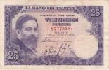 BILLETE DE ESPAÑA DE 25 PTAS DEL AÑO 1954 ISAAC ALBENIZ  SERIE N - [ 3] 1936-1975: Franco