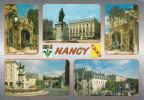Nancy  (54) Différents Aspects De La Ville Et Le Blason - Nancy