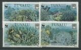 Tuvalu 1992 WWF Blaue Koralle 638/41 Postfrisch - Tuvalu (fr. Elliceinseln)
